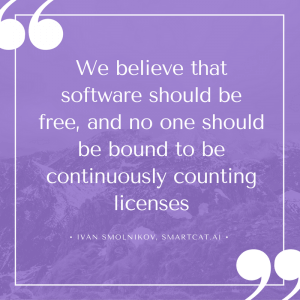 We believe that software should be free, and no one should be bound to be continuously counting licenses